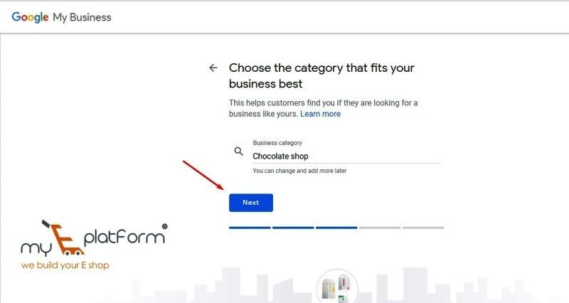 myeplatform-digital marketing agency-google my business business category