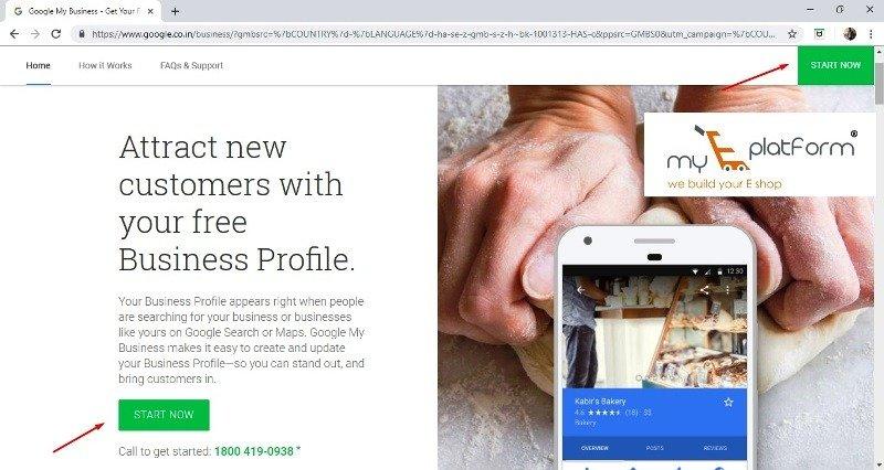 myeplatform-digital marketing agency-google my business homepage