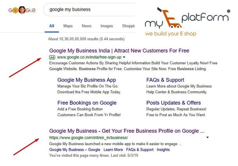 myeplatform-digital marketing agency-google my business serp